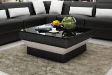 Design Glastisch Leder Couch Tisch Tische Glas Sofa Wohnzimmertische  CT9008s