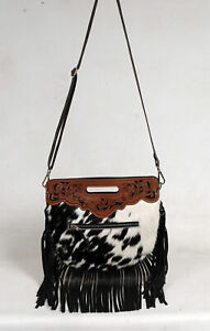 100% Cowhide leather bag with fringes, over the shoulder bag for women SA-1813