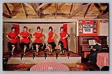 Old Abilene Town Kansas KS Can Can Girls Alamo Saloon Vintage Postcard 1950s