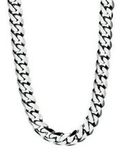 "Fred Bennett 21.75"" Polished Stainless Steel Men's Slim Curb Link Necklace"