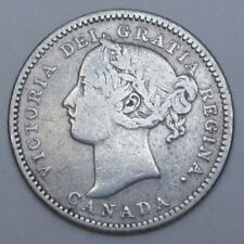 OLD CANADIAN COIN 1883 H - 10 CENTS - .925 SILVER - Victoria - Scarce Date