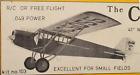 "CURTISS ROBIN by Flyline Free Flight W/S 41"" .049 Power"