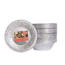 Disposable Aluminum Foil Tart Pie Pans for Baking Cupcakes Round - Pack of 50