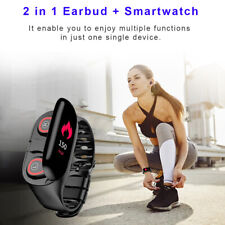 Bluetooth 2 in 1 Bracelet & Watch (iOS & Android) Pedometer + Heart Rate Sensor