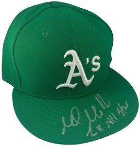 Mark Mulder autographed signed inscribed New Era Hat MLB Oakland Athletics PSA