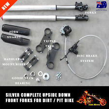 DIRT/PIT BIKE ATOMIK PITPRO THUMPSTAR DHZ BIG FOOT COMPLETE FORK SET TRIPLE TREE
