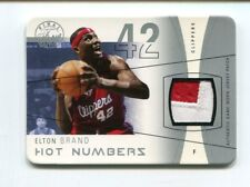 Elton Brand Jersey Patch 5/5 2003-04 Fleer Flair Final Edition Hot Numbers HN-EB