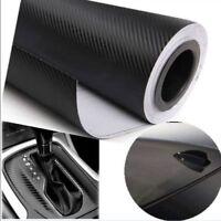 Auto Interior Twill-Weave Black Carbon Fiber Vinyl Wrap Film Sheet Decal Sticker