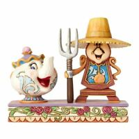 Disney Mrs Potts and Cogsworth Workin Round the Clock Collectors Figurine