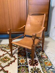Safari Chair Wilhelm Kienzle Wohnbedarf Leder Stuhl Mid Century Designklassiker