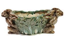 Beautiful Cute Ceramic Rabbit Figurine Rectangular Pot
