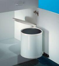Wesco Einbau Abfallsammler Rondo 2, weiß, 13 Liter, Küchen Schwenk Abfalleimer