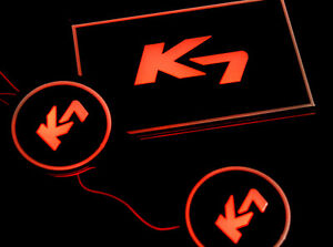 LED Cup Holder Plate DIY Kit Red For 13 Kia Cadenza : K7