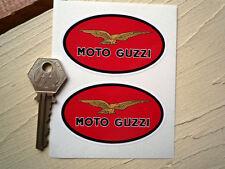 Moto guzzi rouge ovale classique moto autocollants 75mm paire pour lemans california