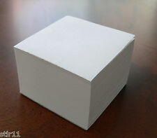 "Blank Note Paper Cubes - Padded on 1 side  - 3 1/2"" x 3 1/2"""