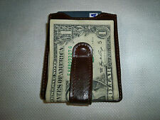 Leather Brown Money Clip Wallet