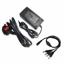 12V 5A 60W DC Power Supply 4 Way CCTV Splitter Cable For CCTV Cameras LED Strip