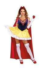 WOMENS SASSY SNOW WHITE COSTUME SIZE MEDIUM (missing cape)