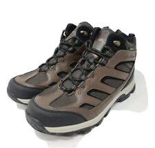 EDDIE BAUER - Men's Graham Hiking Boots Brown Waterproof SIZE 8.5 Leather NEW