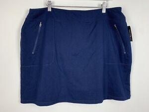 KIM ROGERS L XL Turquoise Globe Crinkle Skirt NWT $44