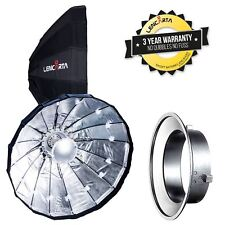 80cm Silver Folding Beauty Dish / Softbox to fit Lencarta / Bowens Studio Flash