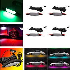 4X RGB LED Autos Truck Fender Wheel Eyebrow Ambient Tire Light & Remote Control