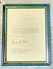 Letter Signed by President Gerald Ford re Arizona Visit 1974 White House Framed
