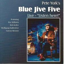 PETE YORK'S BLUE JIVE FIVE Live Listen here Harvey Weston Harvey Weston signed