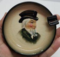 Vintage Marutomoware Porcelain Uncle Sam Ashtray Dish Handpainted Japan Rare oop