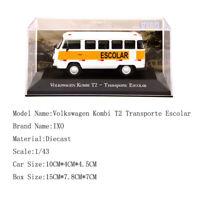 Altaya 1:43 Volkswagen Kombi T2 Transporte Escolar Car Diecast Models Toys IXO