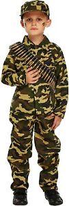 New Children Camouflage Army Boys World Book Week Day School Day Kids Costume UK