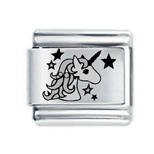 Unicorn With Stars * Daisy Charm Fits Nomination Classic Italian Charms Bracelet