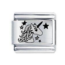 UNICORN with stars * Daisy Charm Fits Nomination Classic Italian Charms Bracelet