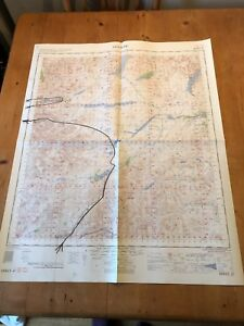 "HUGE 1961 RAF WAR OFFICE & AIR MINISTRY ""GLENCOE"" (35.5"" x 29.5"") CHART MAP"