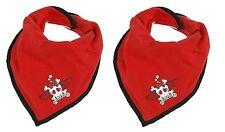 2 x Tommee Tippee Scallyrocka Cotton Bandana Bib Girl Design 100% Brand New