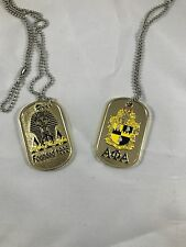 NEW Alpha Phi Alpha Heavyweight Gold Plated Dog Tags