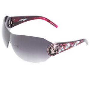 New Ed Hardy Sunglasses 042 Amethyst with Case and Box