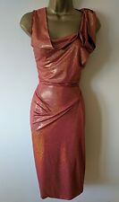 VIVIENNE WESTWOOD RED LABEL M IMMACULATE DRAPED SPARKLE HOURGLASS DRESS £685