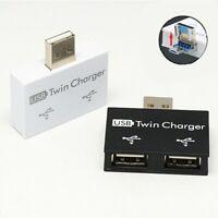 Externer 2 USB Splitter USB HUB Micro USB Stromanschluss Multi Adapter Tsa_