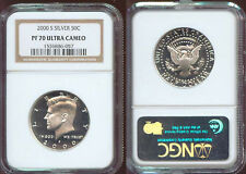 2000-S SILVER NGC KENNEDY HALF PF 70 ULTRA CAMEO   (625)     ABSOLUTELY GORGEOUS