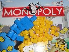 THE SIMPSONS BOARD GAME REPLACEMENT BLUE HOTELS / YELLOW HOUSES PART PIECES LOT