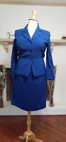 LE SUIT ESSENTIALS Blue 2-Piece Skirt Suit-Size 14