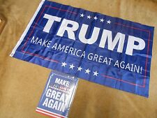 Great Collectible TRUMP BANNER & Tin Sign- MAKE AMERICA GREAT AGAIN