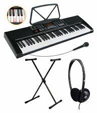61 Leucht Tasten Keyboard E-Piano Lern Klavier 255 Sounds Ständer Kopfhörer Set