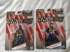 GI Joe Dollar Store Set of 2 Blue Color Variant Cobra Commander & Cobra Trooper