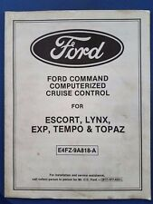 Ford Command Computerized Cruise Control Manual for Escort,Lynx,EXP,Tempo,Topaz