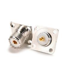 1pcs Connector SO239 UHF female jack 4-hole 25mm flange solder panel mount LAUS