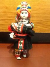Hand Made Thai Asian Cultural Porcelain Doll With Child in Arms