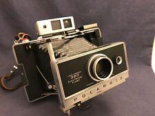 Vintage Polaroid Land 360 Camera Zeiss Finder Instant Timer Electronic Flash