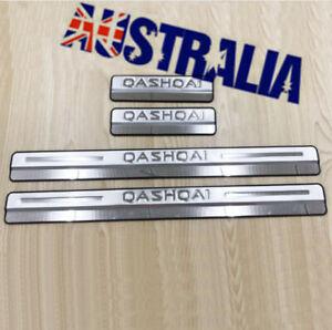 Car Scuff Plate Door Sill 4x Accessories For Nissan Qashqai J11 2015 2016-2020